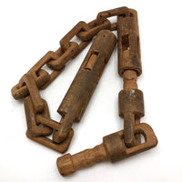 Unusual Old Carved Whimsy with Chain Links, Cage, Plug, and Expandable Part!