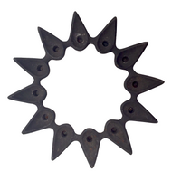 "Dansk Designs Cast Iron ""Star Holder"" Candle Holder by Jens Quisgaard"