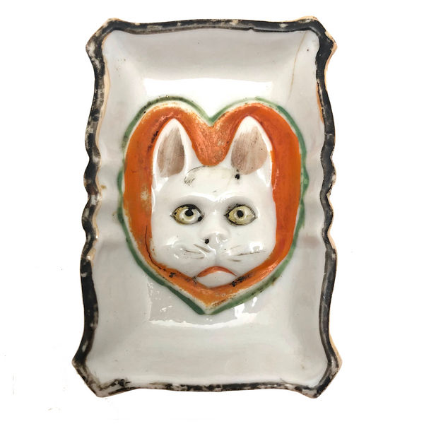 Much Loved Made in Japan Porcelain Cat Face Dish