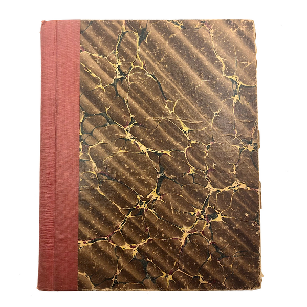 Rare BLANK Antique Notebook with Hand-marbled Paper Covers