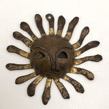 Handmade Vintage Sun Pendant with Face!