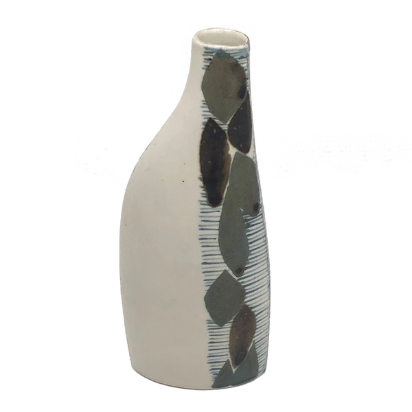 Elegant Porcelain Vase with Hand-painted Double-Sided Abstract Design