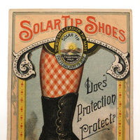 Solar Tip Shoes Antique Victorian Tradecard, c 1881
