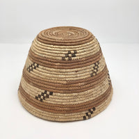 Northwest Coast Native Vintage Tightly Coiled Handwoven Grass Basket