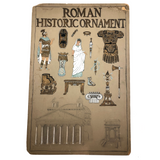 History of Roman Ornament Gouache on Board Student Painting c. 1918