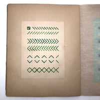 SOLD (RT) Amazing Antique Child's Album of Paper Weavings, Paper Foldings, and Sewn Drawings