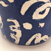 Sarah Wilton Lee Happy Blue and White Ceramic Tumbler