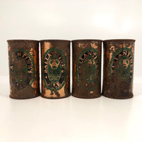 Ballantine Ale c. 1950 Flat Top Copper Beer Cans - Sold Individually