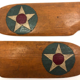 Painted Wooden Model Airplane Wings with Stars