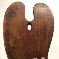 Giant Sculptural 1897 Signed Wooden Painter's Palette