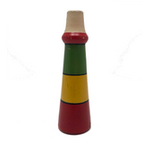 Striped Wooden Toy Horn