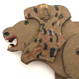 Fantastic Folk Art Lion with Moveable Legs, Long Tail and Bared Teeth!