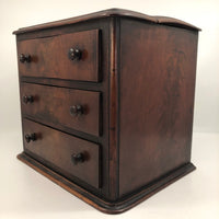 Antique Mahogony Three-Drawer Salesman's Sample / Apprentice Chest - Reserved for SS
