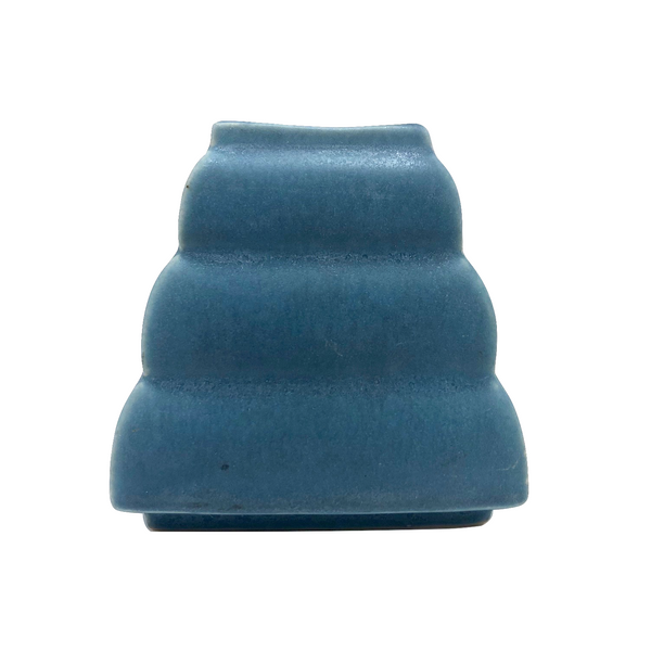 Blue Pyramid Shaped American Art Pottery Bud Vase
