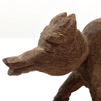 Carved Wolf on the Prowl