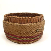 Makah Northwest Coast Native Antique Lidded Basket