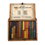 Bauhaus Era Gunther Wagner Oil Crayons in Original Wood Box