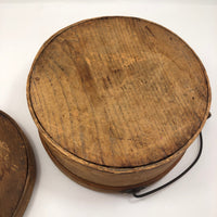 Antique Bentwood Lidded Pantry Box with Bail Handle