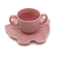 Tiffany & Co. Tiffany Tots Pink Pig Shaped Porcelain Plate and Cup