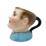 "Baby Blue Vintage Avon Ware ""Fat Boy"" Milk Jug"