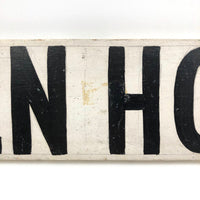 Open House / Auction Hand-painted Double Sided Old Wooden Sign