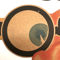 Fun c 1930s Die-Cut Cardboard Eyeglasses Masks - Sold Individually