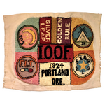 International Order of Odd Fellows 1924 Portland, Oregon Hooked Rug