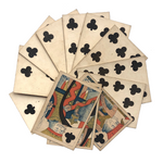 Hunt and Sons 1830s British Playing Cards, Heavy Stock, Clubs