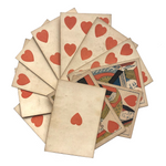Hunt and Sons 1830s British Playing Cards, Heavy Stock, Hearts