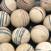 Unfired Hand-Painted German Clay China Marbles - Sold Individually