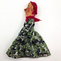 Handmade Vintage Papier Mache and Cloth Punch Puppet