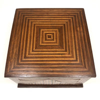 Stunning Antique Walnut and Maple Inlay Box