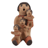 Sculpture of Storyteller Woman with Three Children by Jemez, New Mexico Native American Artist Emily Fragua-Tsosie