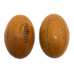 German Tin Litho Football Shaped Old Candy Box