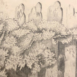 "F. Barber 19th Century British Pencil Drawing ""Deer in the Underbrush"""