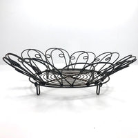 Vintage Wirework Egg Basket / Bowl with Collapsible Sides