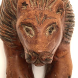 Hand-carved Lying Lion!