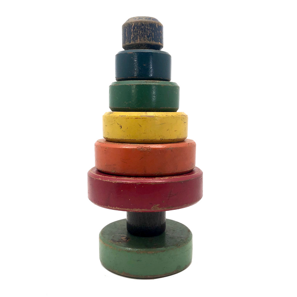 "Holgate c. 1940s Wooden Stacking ""Tree"""
