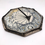 Ceramic Tile Sundial with Sun, Stars and Clouds
