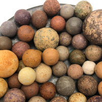 Bunch of Antique Clay Marbles - Batch One