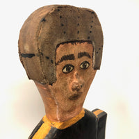 Charming Large Football Player Folk Art Whirligig, Signed Willy