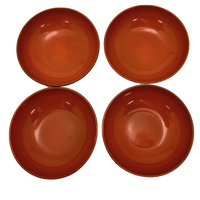 Bright Orange Small Plastic Lacquer Bowls