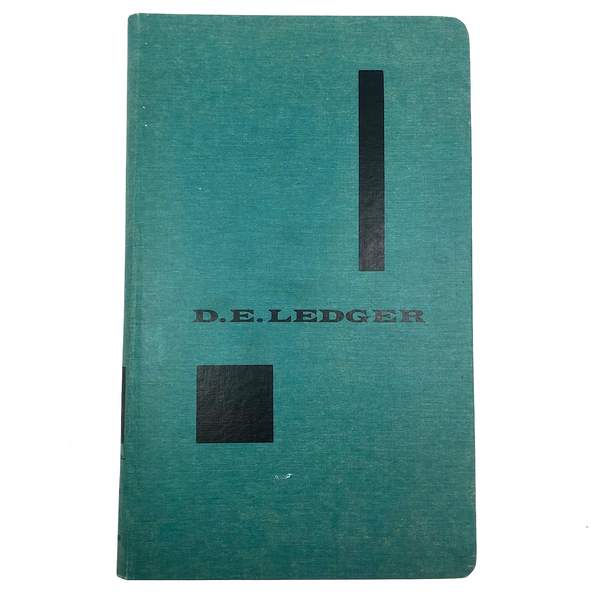Unused Great Looking D.E. Ledger Hardcover Ledger Book with Alpha Index