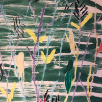 Kid Made Crayon & Watercolor Drawing with Branches and Butterfly by Laura Smiley