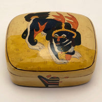 Lacquer Box with Fantastical Creature Handmade in Kashmir, India