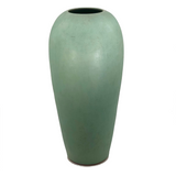 Stunning Tall Matte Green Glazed Arts and Crafts Pottery Vase