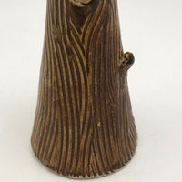 Ceramic Vase With Trompe l'Oeil Bark Pattern