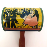 T. Cohn Co. c.1940s Tin Litho Noisemaker with Clowns and Dancers