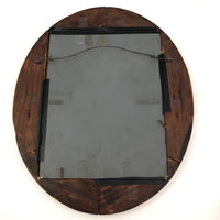 Great Old Wooden Porthole Style Handmade Hanging Mirror