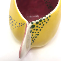 Cheerful Handmade Lemon Yellow Pottery Creamer